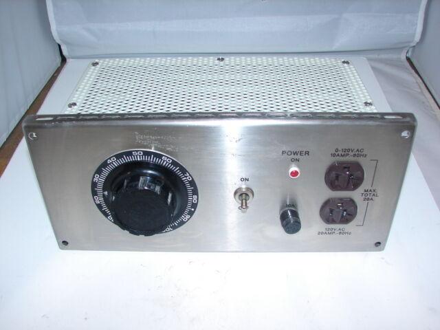 HAMPDEN BPS-120AC-F3 POWER SUPPLY/ VARIABLE TRANSFORMER **XLNT**