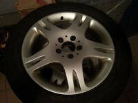 ****ORIGINAL MERCEDES MAGS + TIRES 17 inch LIKE NEW*****