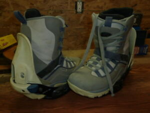 Botte et fixation snowboard ride