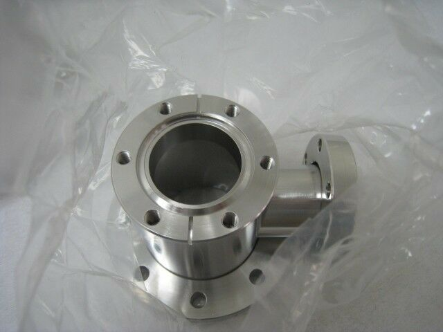 "7 Exxus Tech Rr-p3-8 9/23 Conflat Tee With Two 2-3/4"" & One 41/2"" Flanges"