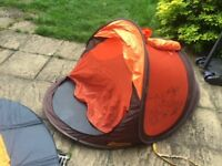 Tent to protect baby from sun, wind and rain whilst hiking or on the beach
