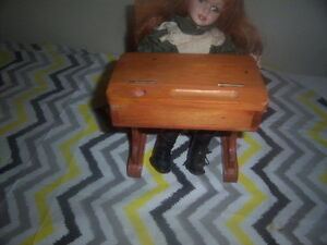Doll and Desk,Boy Fishing,Girl Doll with teddy Bear,wooden doll. Kingston Kingston Area image 5