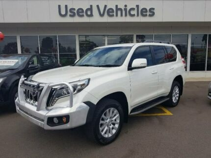 2014 Toyota Landcruiser Prado KDJ150R MY14 VX White 5 Speed Sports Automatic Wagon Blair Athol Port Adelaide Area Preview