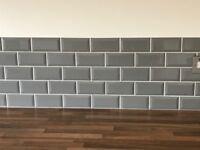 Brand New and Unopened box of x 44 Grey Brick Tiles (Bisel Plata Brillo) 7,5 x 15