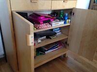 Ikea Beech Storage Cupboard