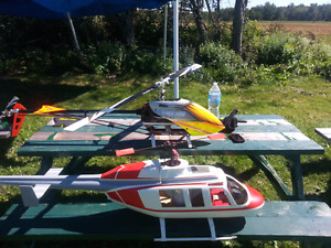 Scale helicopter long ranger vario