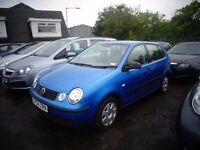2004(54) V W Polo 1.4 TDi 5 door MOT'd for 1 year 134,000 miles £995