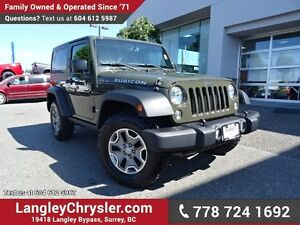 2015 Jeep Wrangler Rubicon W/NAVIGATION & LEATHER UPHOLSTERY