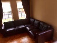 Marks & Spencer corner leather sofa and armchair recliner in excellent condition