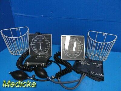 2x Welch Allyn Jewel Movement Sphygmomanometer W Adult Bp Cuff Basket 22858