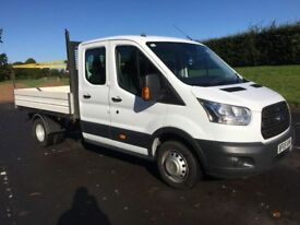 FORD TRANSIT 2.2 350 L3 DOUBLECAB PICKUP 125BHP DIRECT MAJOR PLC, GREAT CONDITION (white) 2015