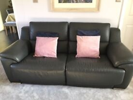 Fairford Leather reclining sofa and 2 electric reclining arm chairs