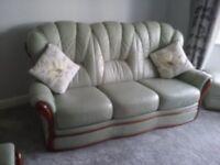 4 piece suite / Mancini Italian leather 4 piece suite / leather sofa