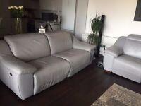 NATUZZI Electric Recliner Leather sofa sofas Grey