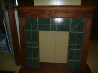 Pieces for building a fireplace mantel