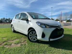2016 Toyota Yaris NCP130R Ascent White 4 Speed Automatic Hatchback Prospect Prospect Area Preview