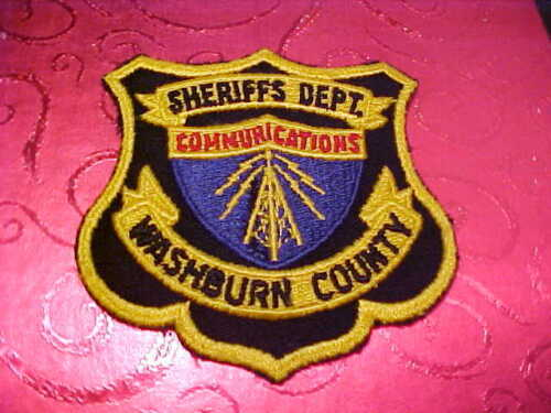 WASHBURN COUNTY WISCONSIN COMMUNICATIONS POLICE PATCH SHOULDER SIZE UNUSED