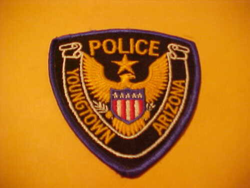 YOUNGTOWN ARIZONA POLICE PATCH SHOULDER SIZE UNUSED