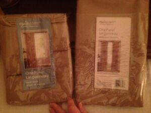 Brand New in Package-2 Panels Rod Style Curtains