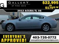 2012 Acura TL V6 $179 bi-weekly APPLY NOW DRIVE NOW