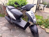 KYMCO AGILITY 50CC MOPED / SCOOTER - BLACK & SILVER