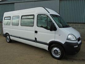 Vauxhall Movano 2.5 CDTi LWB 13 seat mini bus 2008 58 reg