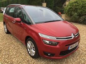 2014 (14) Citroen Grand C4 Picasso 1.6e-HDi ( 115ps ) ETG6 Exclusive 17,000 mies