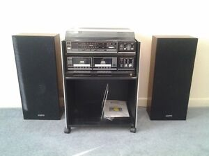 Stereo System with turntable