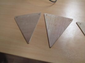 Bunting, Plyboard, pre-drilled for stringing.
