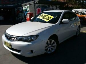 2007 Subaru Impreza G3 MY08 R AWD White 4 Speed Sports Automatic Hatchback