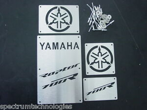 CUSTOM-06-12-YAMAHA-RAPTOR-700-R-700R-FENDER-WARNING-TAGS-PLATES-BADGES-NEW