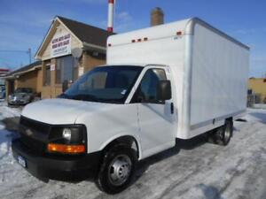 2013 CHEVROLET Express 3500 14Ft Aluminium Cube Van ONLY 68Km