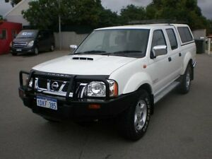2010 Nissan Navara D22 MY08 ST-R (4x4) White 5 Speed Manual Dual Cab Pick-up Victoria Park Victoria Park Area Preview