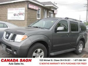 2006 Nissan Pathfinder 4WD, ROOF, 155km ! 12M.WRTY+SAFETY $6790