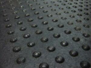 2 x 4 x 5/8 Industrial Button Top Rubber Mats - High Traction - Great for Wet Areas - Brand New!