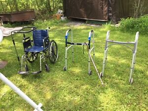 Wheelchair, walkers, cane, bed safety rail