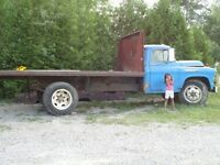 Vintage 1957 Chevy truck with tilt deck model 1653