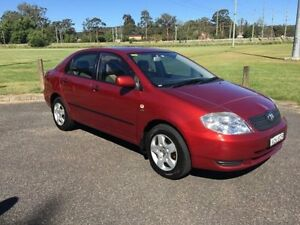 2003 Toyota Corolla ZZE122R Ascent Burgundy 4 Speed Automatic Sedan West Gosford Gosford Area Preview