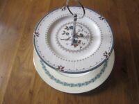 Vintage cake stand royal Daulton & Wedgewood 27cm & 20cm diam great condition