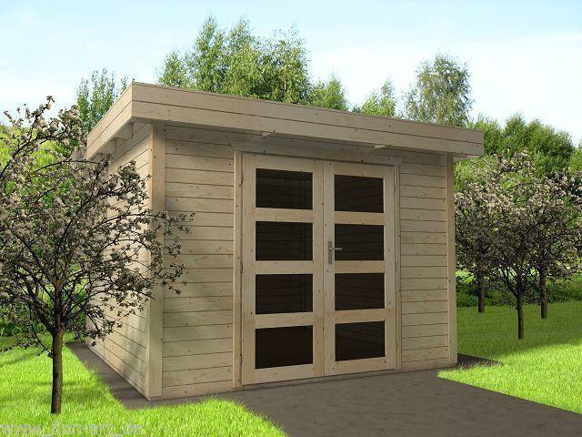 28 mm gartenhaus sydney 9 300 x 300 cm holz ger tehaus schuppen flachdach neu ebay. Black Bedroom Furniture Sets. Home Design Ideas