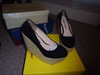 womens wedge shoes brand new size 4