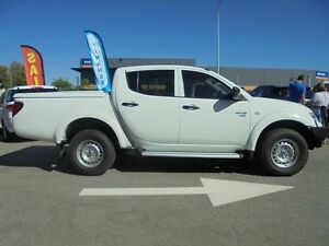 2011 Mitsubishi Triton MN MY11 GLX Double Cab White 4 Speed Automatic Utility Welshpool Canning Area Preview