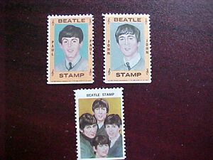 1964 THE BEATLE'S STAMP SET of 5 singles London Ontario image 2