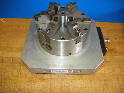 Erowa 320mm X 320mm Cnc Edm Pallet Wpratt Burnerd 8-14 6 Jaw Chuck Rev Top