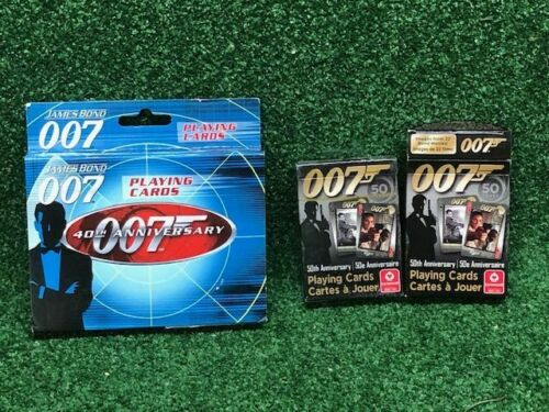 James Bond 007 Playing Card Lot 40th & 50th Anniversary 4 Decks Poker Blackjack