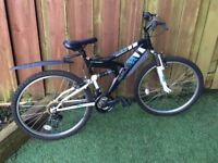 "RALEIGH 26"" MISSION DUAL SUSPENSION MOUNTAIN BIKE"