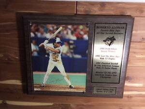 1991 Roberto Alomar Signed plaque