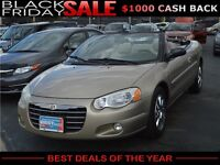 2004 Chrysler Sebring Limited Convertible, NO PAYMENT UNTIL 2016