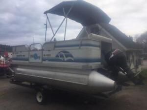 ***NEW ARRIVAL*** 2006 18' SUN PARTY 18' PONTOON WITH 4 STROKE Peterborough Peterborough Area image 2