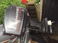 Mariner 30hp manual outboard, Snipe jet bike trailer and Vintage Avon sportboat